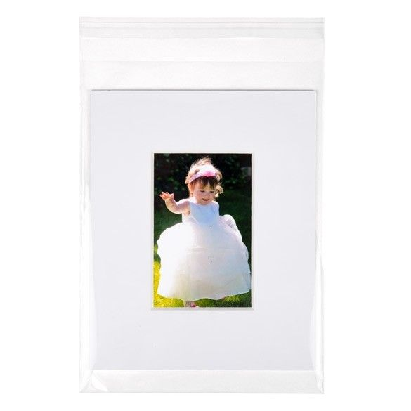 """8 11/16"""" x 11 15/16"""" + Flap, Crystal Clear Bags (100 Pieces)"""