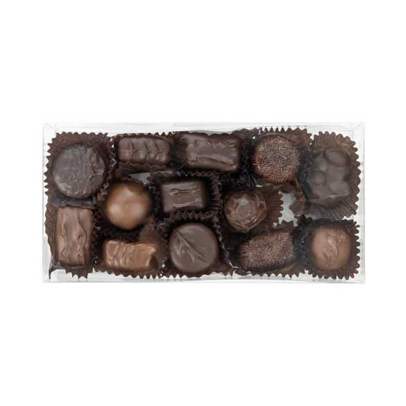 "4 1/4"" x 1 5/8"" x 8 1/2"" Truffle Box with Insert (100 Pieces)"