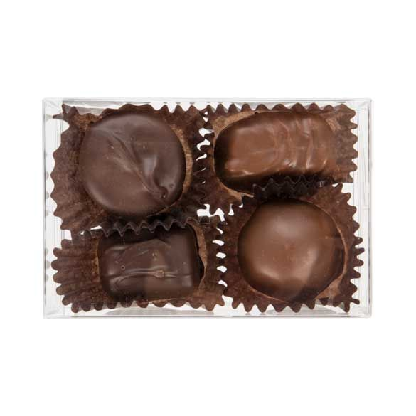 """2 3/4"""" x 1 7/16"""" x 4 1/8"""" Chocolate Box with Insert (100 Pieces)"""
