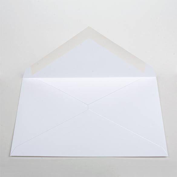 "Lee 7 1/4"" x 5 1/4"" Premium Opaque Envelope White (50 Pieces)"