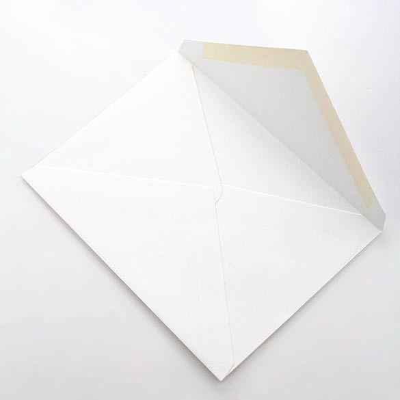 "6 Bar 4 3/4"" x 6 1/2"" Linen Envelope White (50 Pieces)"