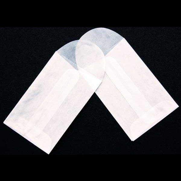 "1 3/4"" x 2 3/4"" Glassine Open End Center Seam Envelope (100 Pieces)"