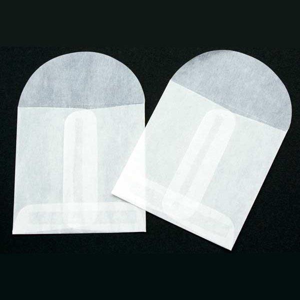 "2 3/4"" x 2 3/4"" Glassine Open End Center Seam Envelope (100 Pieces)"