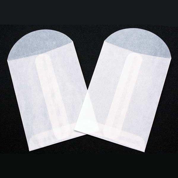 "2 3/4"" x 3 3/4"" Glassine Open End Center Seam Envelope (100 Pieces)"