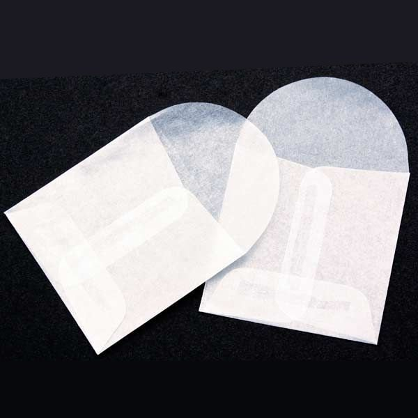 "2"" x 2"" Glassine Open End Center Seam Envelope (100 Pieces)"