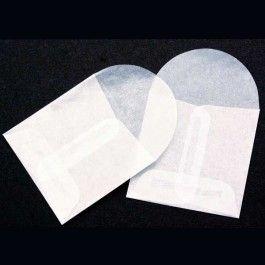 "2 1/8"" x 2 1/8"" Glassine Open End Center Seam Envelope (100 Pieces)"
