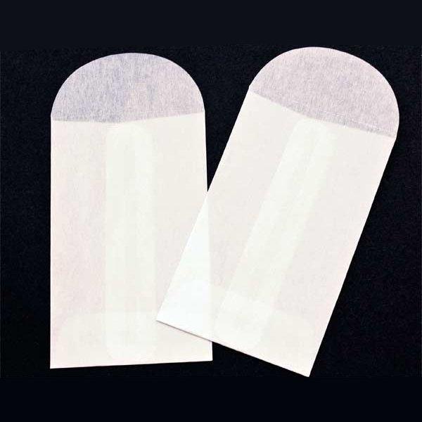 "2"" x 3 1/4"" Glassine Open End Center Seam Envelope (100 Pieces)"