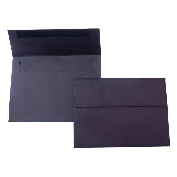 "A7 7 1/4"" x 5 1/4"" Premium Opaque Envelope, Black (50 Pieces)"