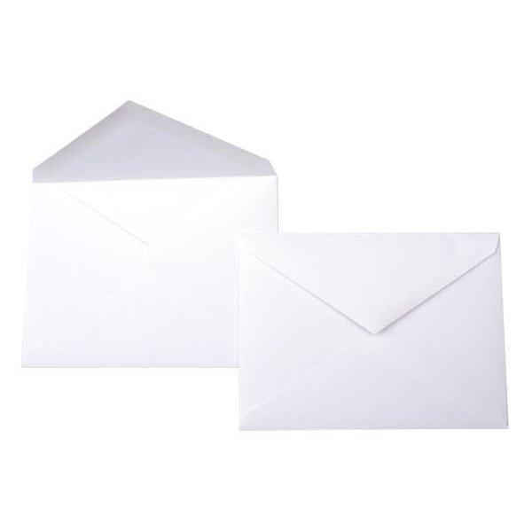 "6 Bar 6 1/2"" x 4 3/4"" Premium Opaque Envelope White (50 Pieces)"