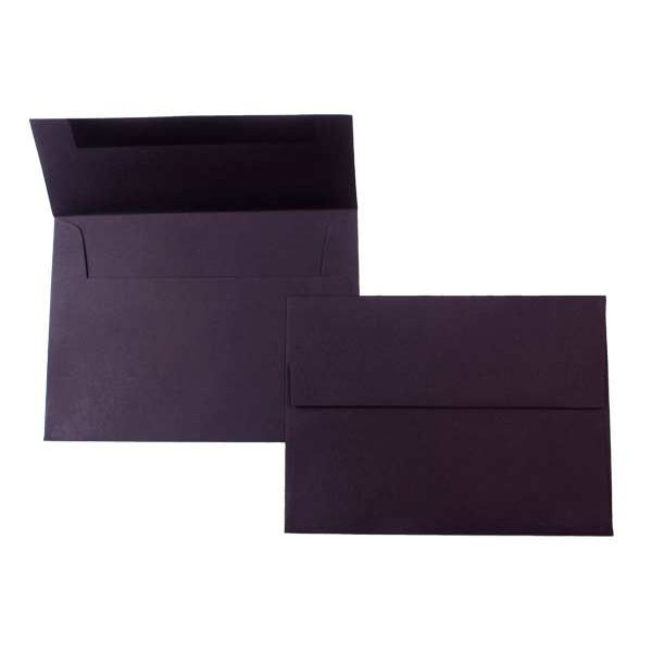 "A6 6 1/2"" x 4 3/4"" Premium Opaque Envelope, Black (50 Pieces)"
