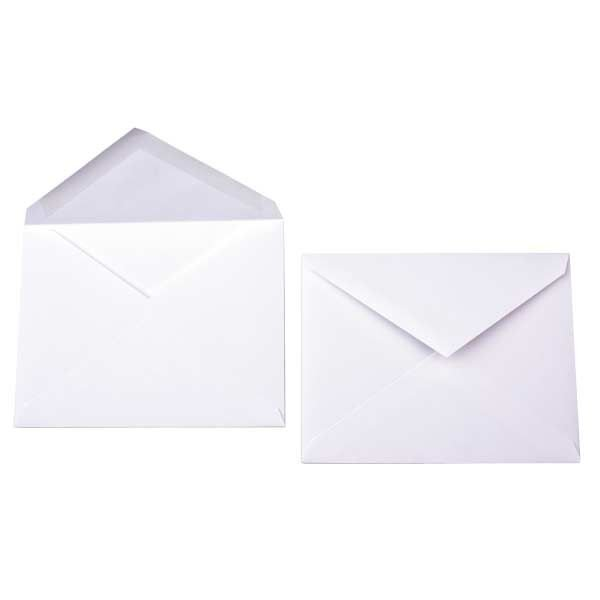 "5.5 Bar 5 3/4"" x 4 3/8"" Premium Opaque Envelope White (50 Pieces)"