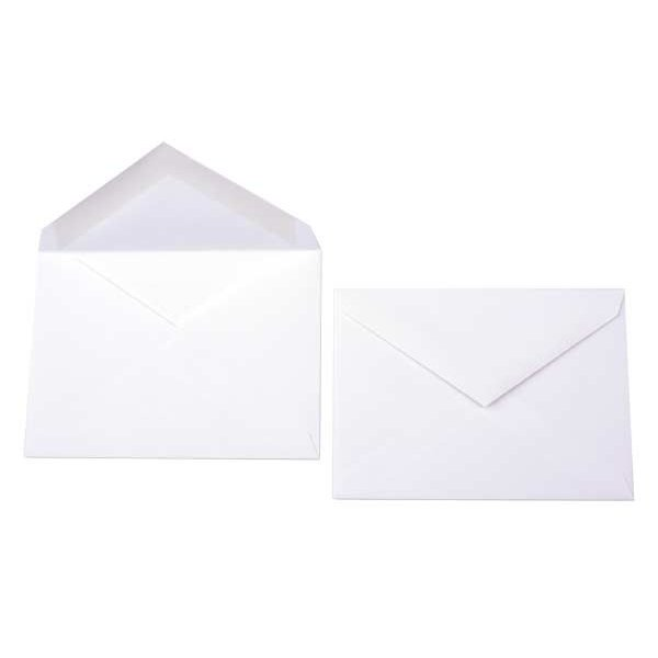 "4 Bar 5 1/8"" x 3 5/8"" Premium Opaque Envelope White (50 Pieces)"