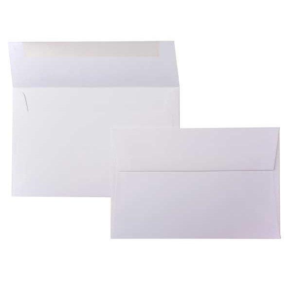 "A9 8 3/4"" x 5 3/4"" Premium Opaque Envelope White (50 Pieces)"