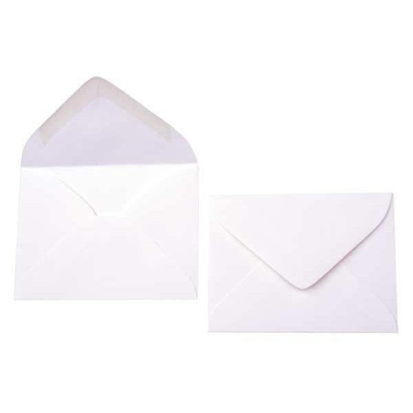"""3 11/16"""" x 2 11/16"""" Premium Opaque Envelope White (50 Pieces)"""