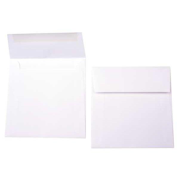 """5 1/2"""" x 5 1/2"""" Premium Opaque Envelope White (50 Pieces)"""