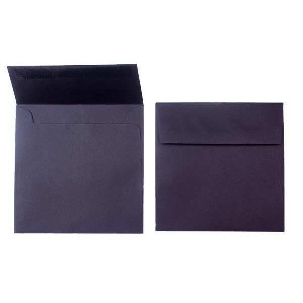 """5 1/2"""" x 5 1/2"""" Premium Opaque Envelope, Black (50 Pieces)"""