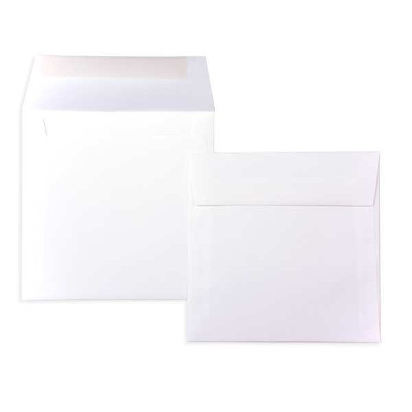 """6 1/2"""" x 6 1/2"""" Premium Opaque Envelope White (50 Pieces)"""
