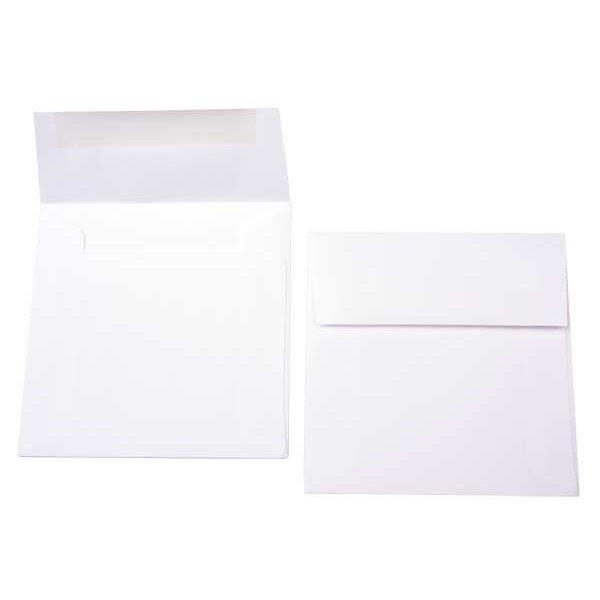 """5"""" x 5"""" Premium Opaque Envelope White (50 Pieces)"""