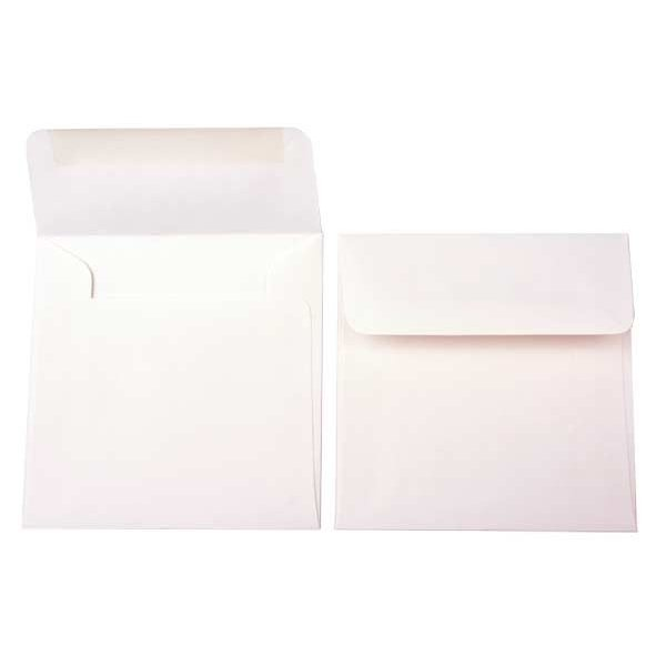 "5"" x 5"" Premium Opaque Envelopes, Natural (50 Pieces)"