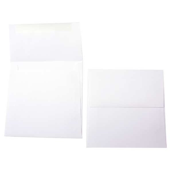 """6 1/4"""" x 6 1/4"""" Premium Opaque Envelope White (50 Pieces)"""