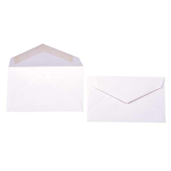"""3 5/8"""" x 2 1/8"""" Premium Opaque Envelope White (50 Pieces)"""