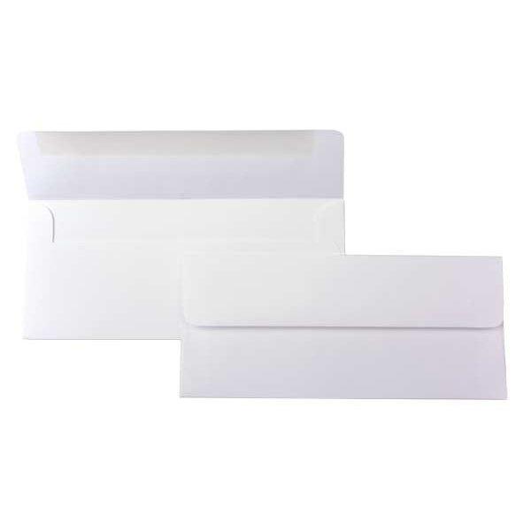 #10 Square Flap Premium Opaque, White (50 Pieces)
