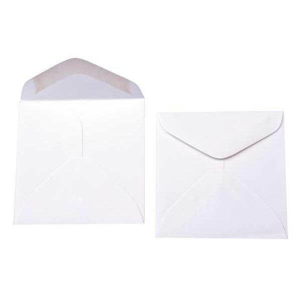 """2 7/8"""" x 2 7/8"""" Premium Opaque Envelope White (50 Pieces)"""