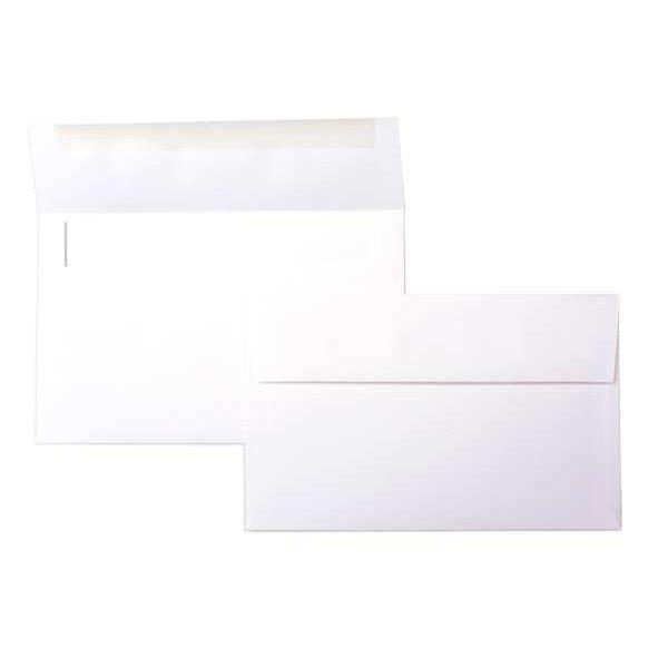"A10 9 1/2"" x 6"" Premium Opaque Envelopes White (50 Pieces)"