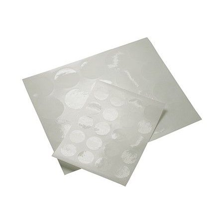 """1 1/4"""" Clear Round Stickers (Sheet of 20)"""